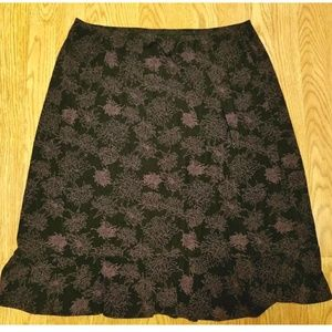STUDIO 1940  Black & Pink Floral Stretch Skirt 1X